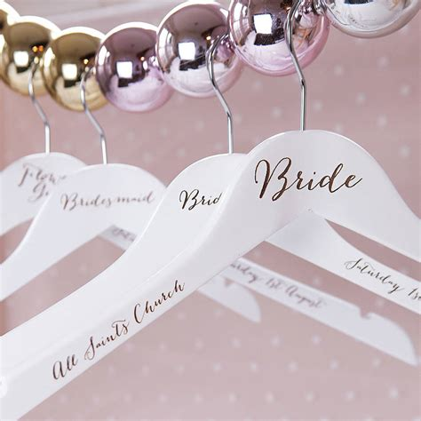 Wedding Hangers engraved wedding hanger by clouds and currents