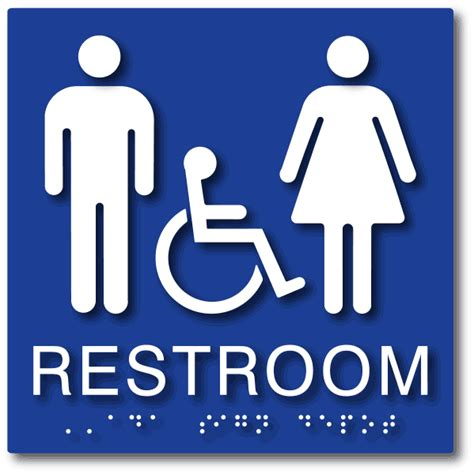 handicap bathroom sign unisex wheelchair accessible restrooms ada signs