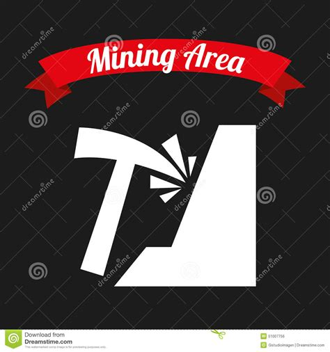 design mine graphics mining area stock vector image 51007756
