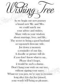 wedding wishes poem items similar to custom printable wedding wishing tree sign digital file on etsy
