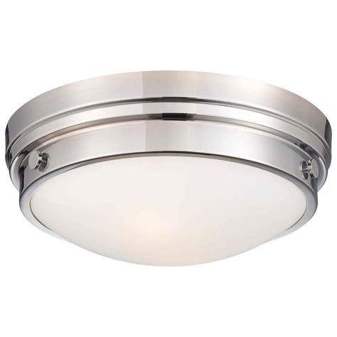 chrome flush mount light minka lavery 2 light chrome flushmount 823 77 the home depot