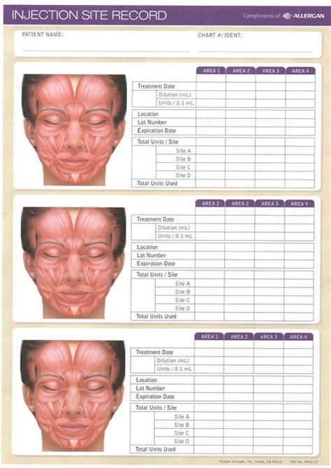 Similiar Botox Injection Forms Keywords Botox Treatment Record Template