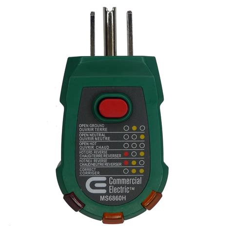 Home Depot Electrical Tester by Commercial Electric Gfci Receptacle Tester The Home Depot Canada