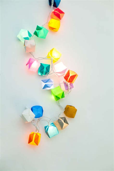 How To Make Origami Lights - diy origami box lights origami lights