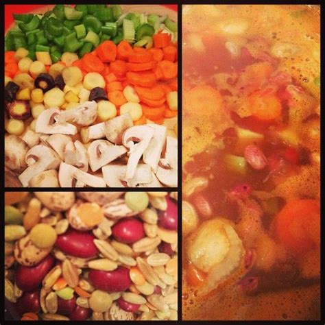 1 2 cup whole grains vegetable soup 4 cups chunky chopped vegetables 1 cup