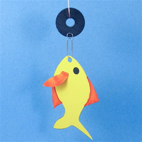 How To Make A Paper Clip Magnetic - fishing to make s crafts