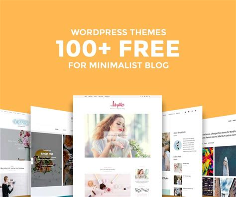 free wordpress blog themes 100 stunning free minimalist wordpress blog themes of 2018