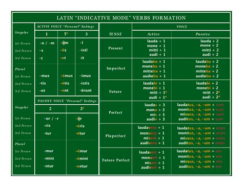 tenses with pattern using patterns latin verbs part 3 tenses language