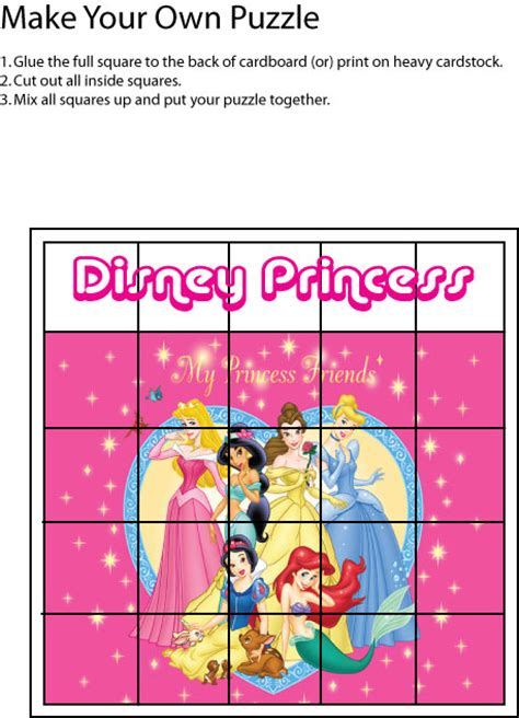 printable disney puzzle disney princess printables