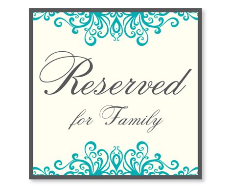 make reserved signs for tables pictures to pin on