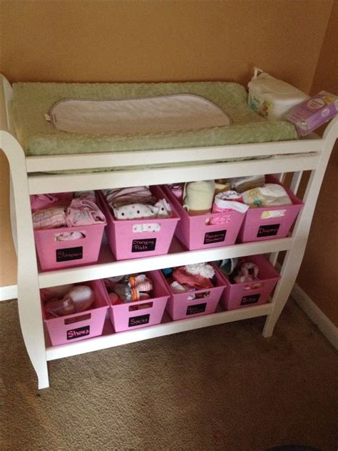 Ideas For Changing Tables Best 20 Changing Table Storage Ideas On Organizing Baby Stuff Changing Table