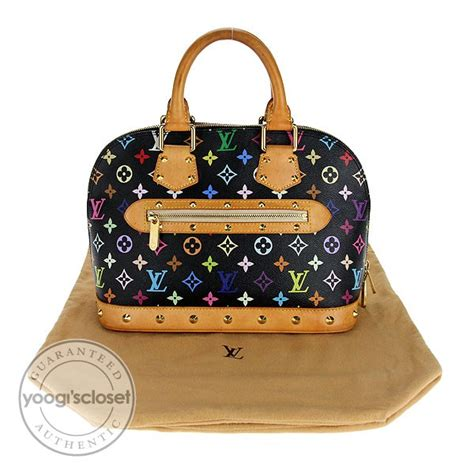 louis vuitton black multicolor monogram alma bag yoogis