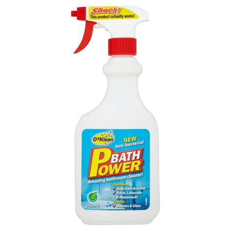best products for cleaning bathroom ozkleen bath power bathroom cleaner 500ml at wilko com