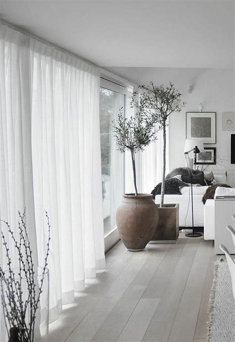 Wohnraum Ideen 5245 by White Decoration In The Living Room Curtains Modern