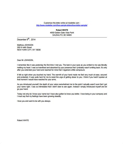 7 love letter templates free word pdf documents download