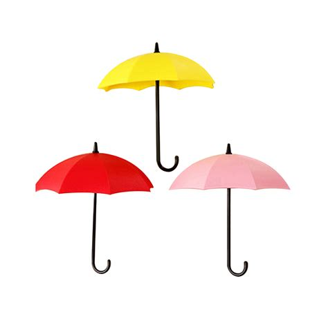 Umbrella Hanging Hook 3pcs colorful umbrella wall hook key hanging holder