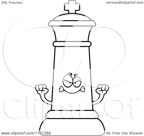 chess king coloring page cartoon clipart of a mad black chess king chess king
