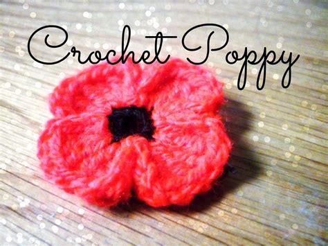 youtube poppy pattern diy crochet poppy 166 the corner of craft youtube