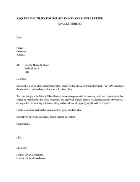 Sle Resume Cover Letter Relocation Relocation Letter To Clients Docoments Ojazlink