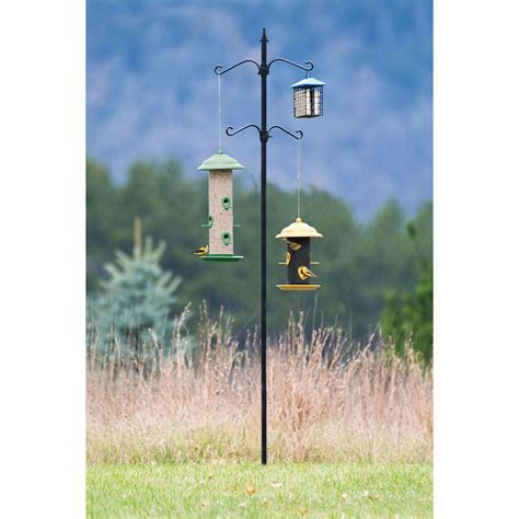 belle fleur bird feeder pole kit