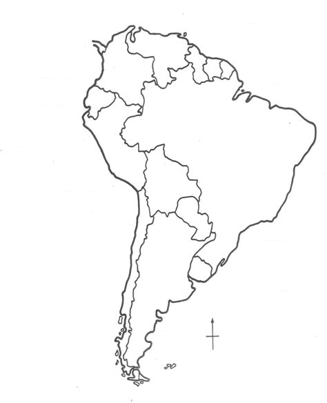 south america blank physical map south america blank map