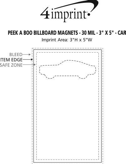 section 111 of public law 110 173 4imprint com peek a boo billboard magnets 30 mil 3 quot x