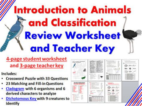 Introduction To Science Worksheet by Intro To Animals And Classi By Biology Zoology Forensic