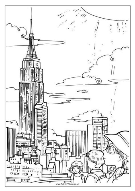 coloring pages for adults buildings coloring pages new york city spain portugal trip