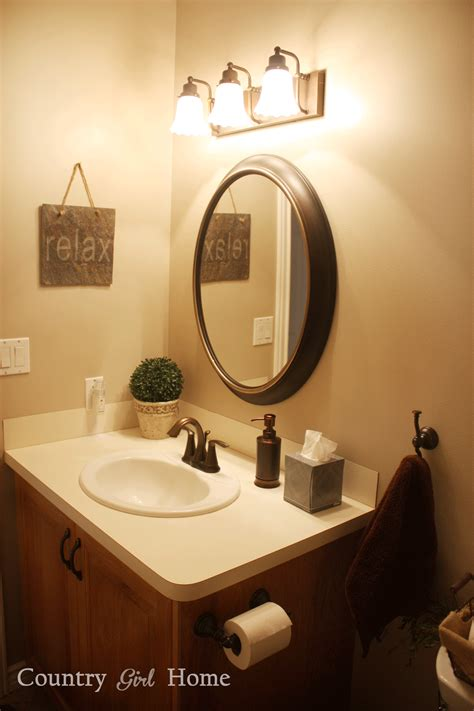 Bathroom Vanity Lights Oil Rubbed Bronze Country Home January 2014