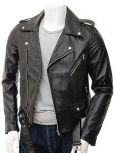 mens leather jacket mens black biker leather jacket shores caine