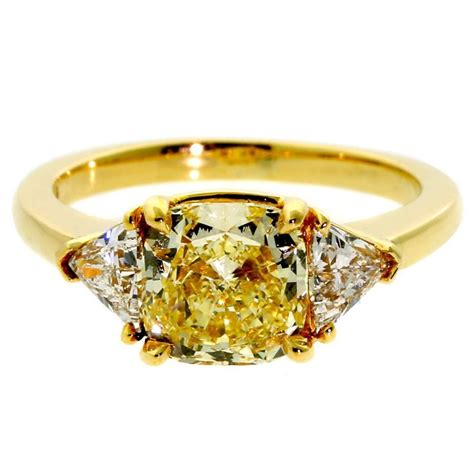cartier fancy yellow gold ring for sale at