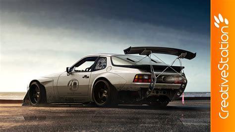 porsche 944 tuned porsche 944 virtual tuning speed art photoshop