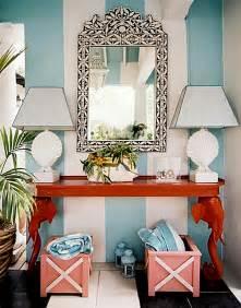 Interior Entryway Designs Make A Splash With Tropical Interior Design