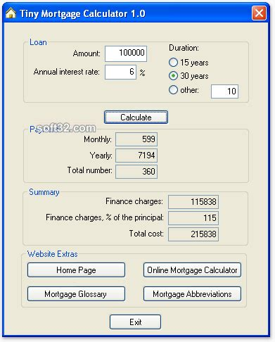 va house loan calculator download tiny mortgage calculator 1 0