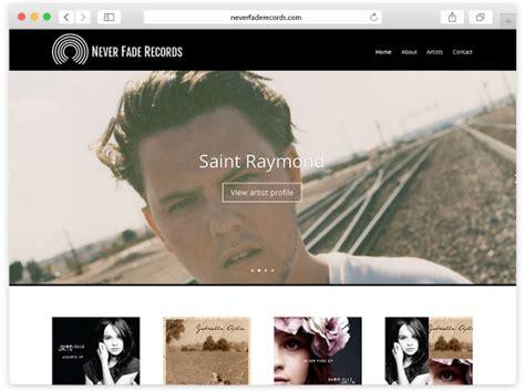 Records Website Never Fade Records Website And Logo Design Gooii Website Design Nottingham