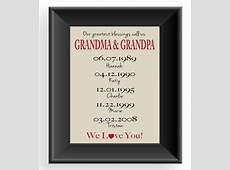 GRANDPARENTS Gift Print Gift for Grandma & Grandpa Christmas Gift