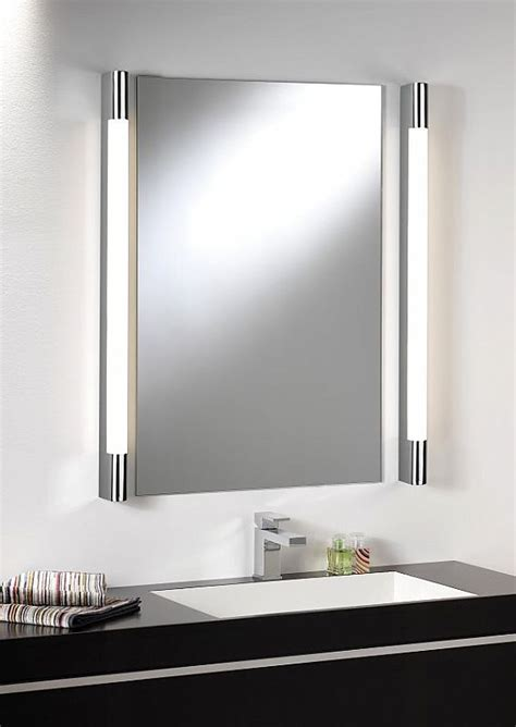 bathroom lighting above mirror over mirror light half round