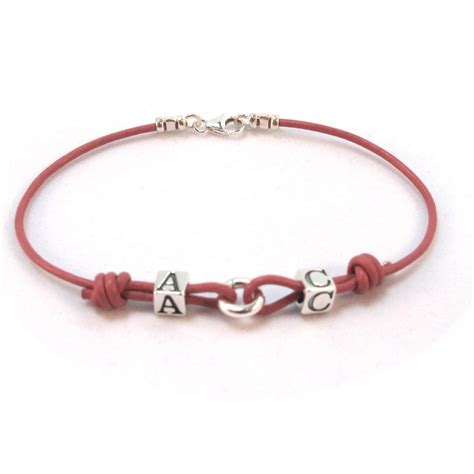 personalised leather bracelet claudia design women and