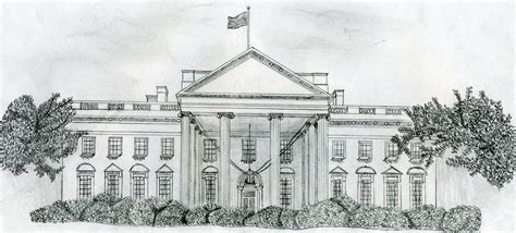 how to draw the white house white house drawing mark flickr