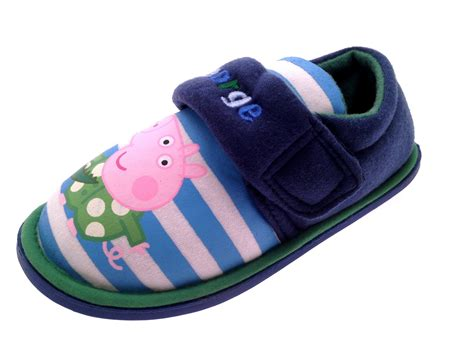 character slippers boys peppa pig george novelty slippers fleece