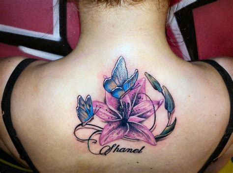 butterfly and lily tattoo designs back tattoos and designs page 586