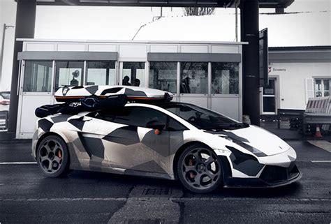 Camouflage Lamborghini Gallardo Jon Olsson Camo Wrapped Lambo Cars One