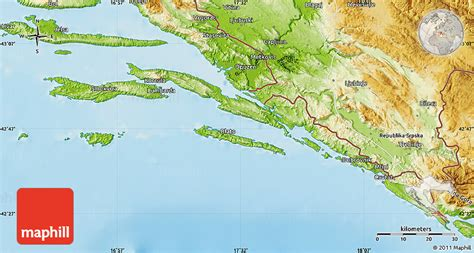 physical map of croatia physical map of dubrovnik neretva