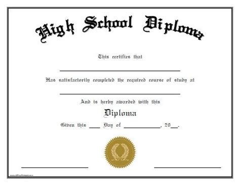 templates of certificates and diplomas 25 high school diploma templates free download