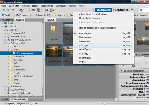 tutorial web com tutorial web fotogalerie mit photoshop und bridge