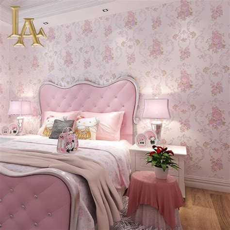 pink wallpaper for bedroom compare prices on pink glitter wallpaper online shopping