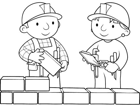 bob the builder coloring pages printable bob the builder coloring pages coloring me