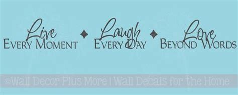 large letter stencils laugh as much as you breathe inspirational wall stickers 1348