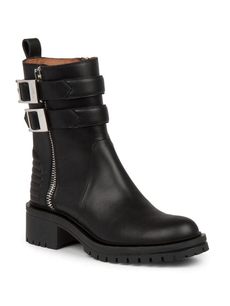 givenchy nidra leather ankle boots in black lyst
