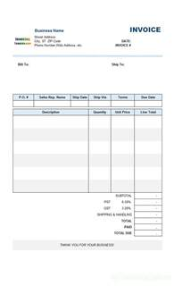 Invoice Template Printable Free Printable Blank Invoice Templates Viewing Gallery